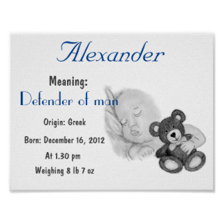 Personalize Alexander Name meaning keepsake Poster