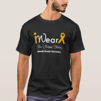 Personalize Amber Ribbon Appendix Cancer T-Shirt