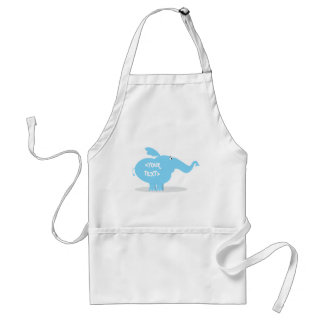 Personalize an Elephant, <YOUR TEXT> Adult Apron