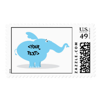 Personalize an Elephant, <YOUR TEXT> Postage