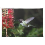 Personalize Animal Flowers Spring Colorful Peace Placemat