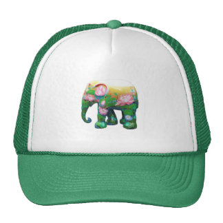 Personalize Animal Safari Jungle Africa Flowers Trucker Hats