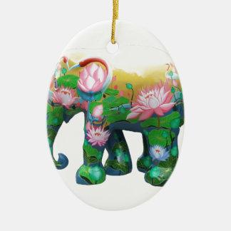 Personalize Animal Safari Jungle Africa Flowers Ornaments