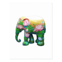 Personalize Animal Safari Jungle Africa Flowers Postcard