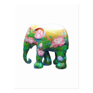 Personalize Animal Safari Jungle Africa Flowers Postcard