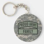 Personalize Army Family Camo Basic Round Button Keychain