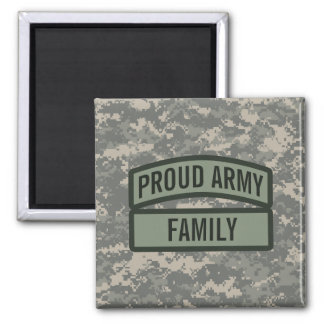 Personalize Army Family Camo Fridge Magnet
