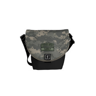 Personalize Army Family Camo Courier Bags