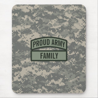 Personalize Army Family Camo Mousepads