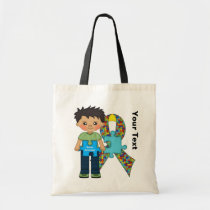 autism, awareness, tote, bag, children, education, school, daycare, Bag with custom graphic design