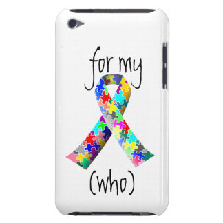 Personalize Autism Ribbon iPod touch cover