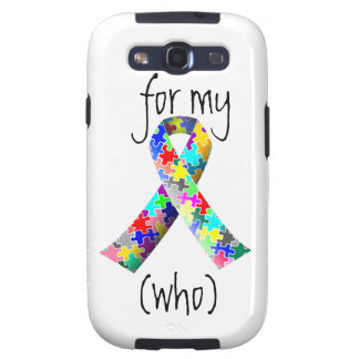 Personalize Autism Ribbon Samsung Galaxy s3 cover