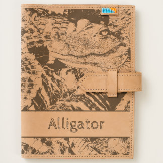 Personalize: Baby Alligator Pod Etched on Leather Journal