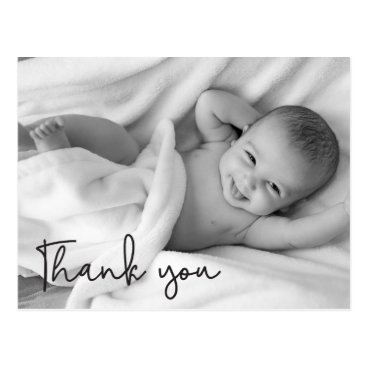Personalize Baby Birth Announcement Thank You Postcard