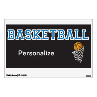 Personalize Baby Blue Basketball Wall Decal