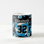 Personalize Baby Blue Volleyball Coffee Mug