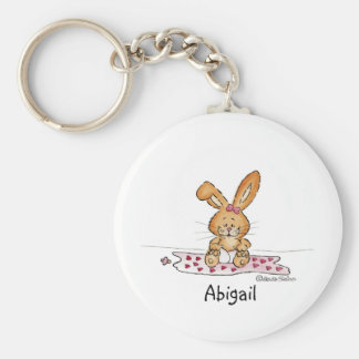 Personalize Baby Girl Design with Name Basic Round Button Keychain