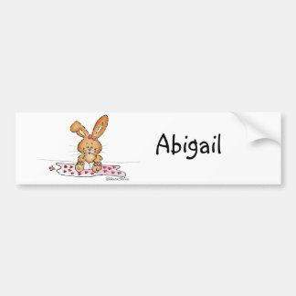 Personalize Baby Girl Design with Name Bumper Sticker