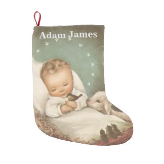 Personalize Baby Jesus Small Christmas Stocking