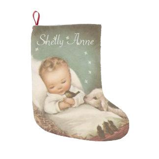 Personalize Baby Jesus Small Christmas Stocking