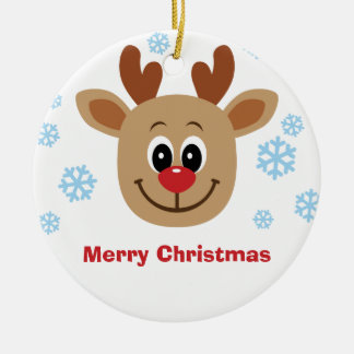 Personalize Baby Reindeer Christmas Ornament