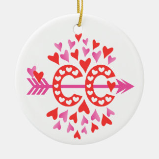 PERSONALIZE Back Cross Country Running Love Ceramic Ornament