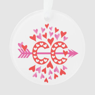 PERSONALIZE Back Cross Country Running Love Ornament
