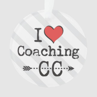 Personalize Back I heart Coaching Cross Country Ornament