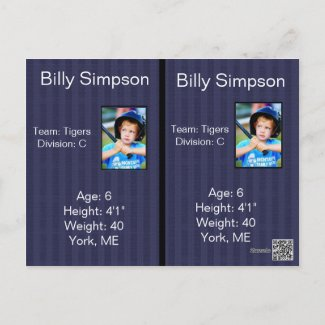 Personalize Basball Cards