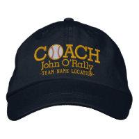 Personalize Baseball Coach Cap Name  n Team