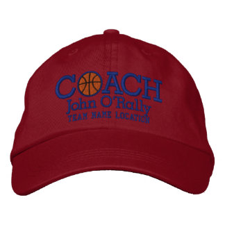 Personalize Basketball Coach Cap Your Name n Game!