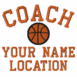 Personalize Basketball Coach Your Name Your Game! Embroidered Jacket