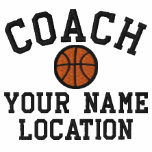Personalize Basketball Coach Your Name Your Game! Embroidered Track Jackets