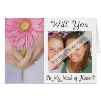 Personalize Be My Maid of Honor Photo Invitation Card