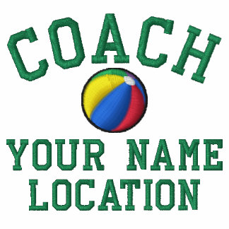 Personalize Beach Ball Coach Your Name Your Game! Embroidered Shirt