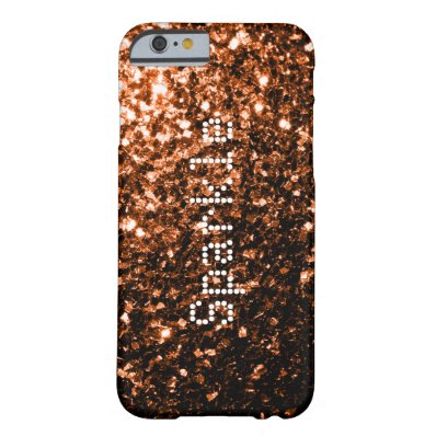 Personalize Beautiful Bronze glitter sparkles Barely There iPhone 6 Case