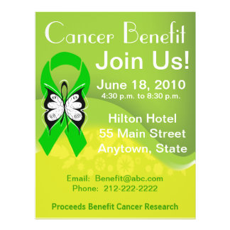"""Personalize Bile Duct Cancer Fundraising Benefit 8.5"""" X 11"""" Flyer"""