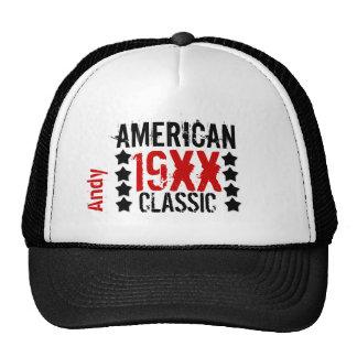 Personalize Birthday Year Name BLACK RED WHITE V01 Trucker Hat