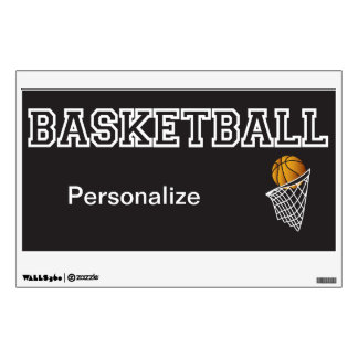 Personalize Black Basketball Wall Sticker