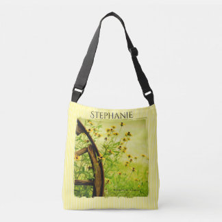 Personalize:  Black-Eyed Susan Flowers Photography Crossbody Bag