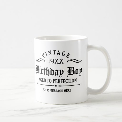 Personalize Black Gothic Script Funny Birthday Mug