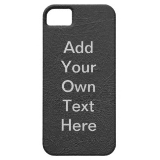 Personalize Black Leather iPhone SE/5/5s Case