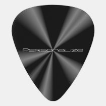Personalize Black Metallic 🎸 Guitar Pick