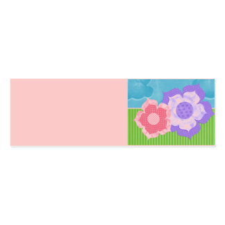 Personalize Blank Flowers Skinny Profile Card Double-Sided Mini Business Cards (Pack Of 20)