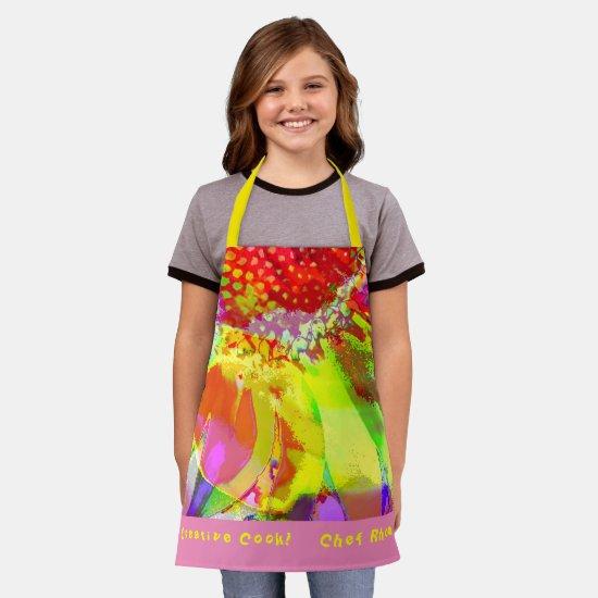 Personalize Blast of Color Kitchen Cooks Apron
