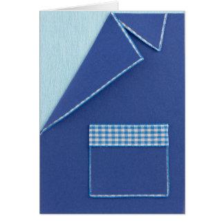 Personalize blue Birthday blazer Card