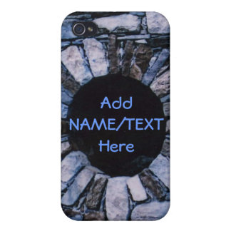 Personalize Blue Brick iPhone 4/4S Cover