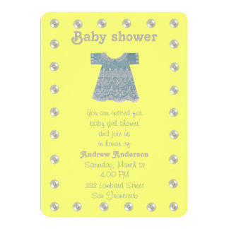 Personalize, Blue lase dress Card