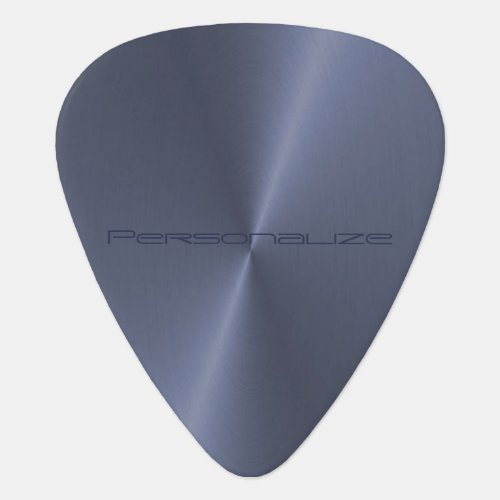 Personalize Blue Metallic Print  Guitar Pick