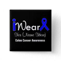 Personalize Blue Ribbon Colon Cancer Button